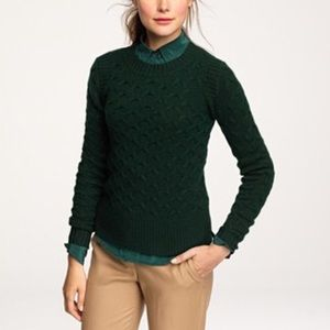 J. Crew honeycomb cable sweater